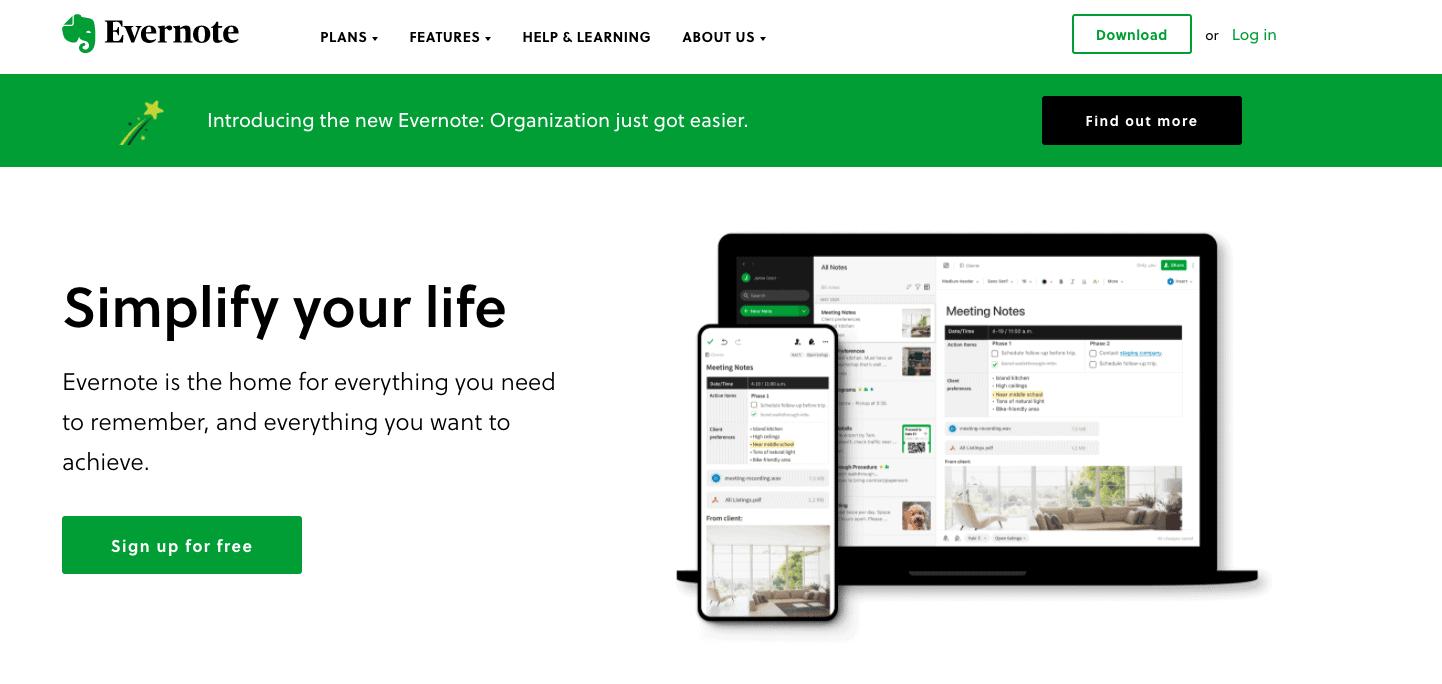 saas website example